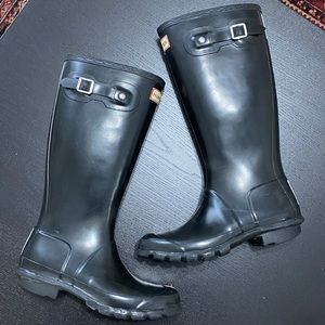 Hunter Original Tall Waterproof Black Rain Boots 6
